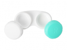 Контейнер для лінз зелено-білий