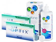 Air Optix for Astigmatism (2x3 лінзи) +розчинGelone360ml