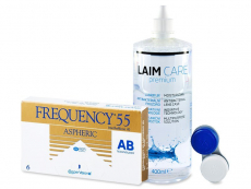 Frequency 55 Aspheric (6 шт.) + розчин Laim-Care 400ml