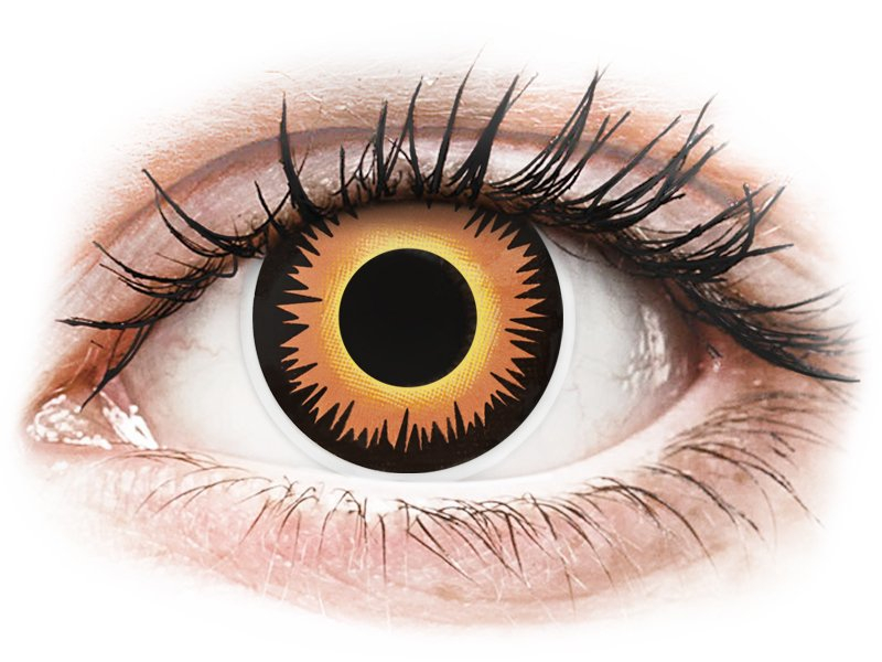 ColourVUE Crazy Lens - Orange Werewolf - недіоптричні (2 шт.)