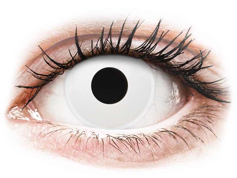 ColourVUE Crazy Lens - WhiteOut - діоптричні (2 шт.)