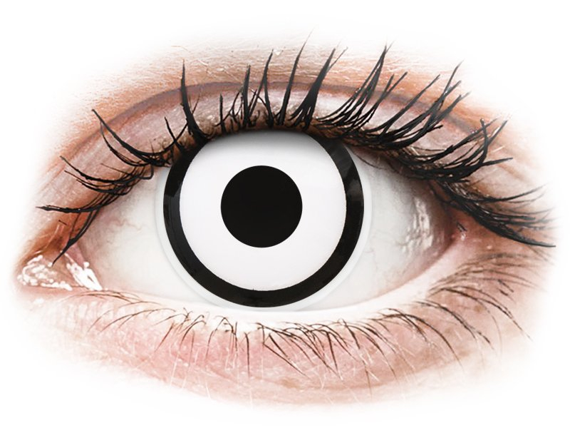 ColourVUE Crazy Lens - White Zombie - Одноденні недіоптричні (2 шт.)