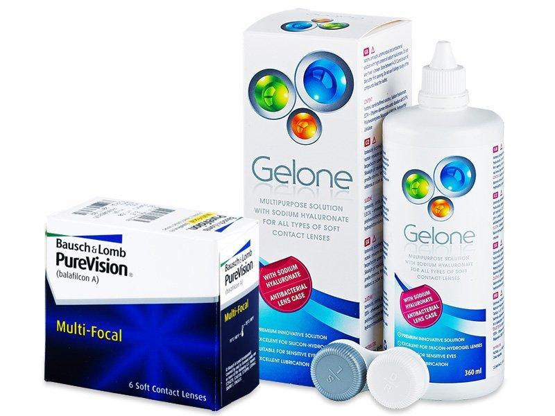 PureVision Multi-Focal (6 шт.) + Розчин Gelone 360 ml