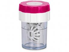 Обертающийся контейнер для лінз - рожевий