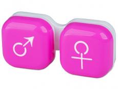 Контейнер для лінз man&woman - рожевий