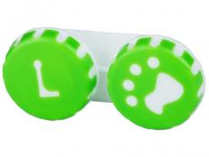 Контейнер для лінз Paw зелений