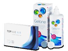 TopVue Air (6 лінз) + Розчин Gelone 360 мл.