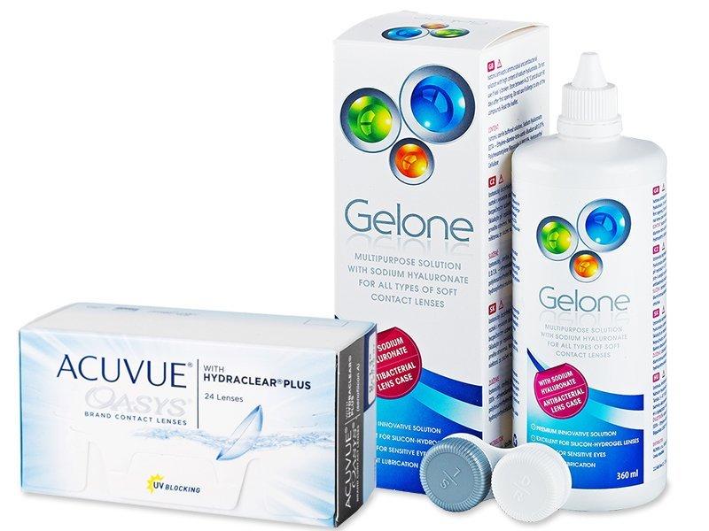 Acuvue Oasys (24 шт.) + розчин Gelone 360 ml