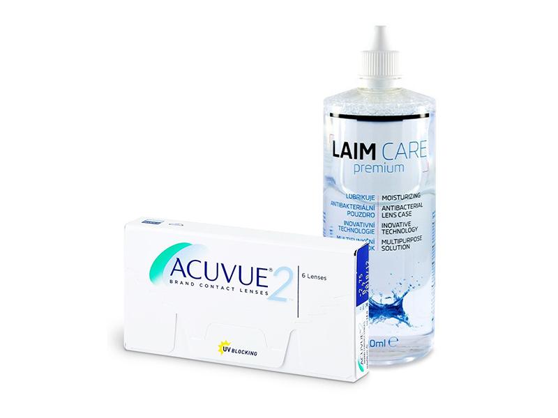 Acuvue 2 (6 шт.) + Розчин Laim-Care 400 ml