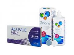 Acuvue Vita (6 шт.) + Розчин Gelone 360 ml