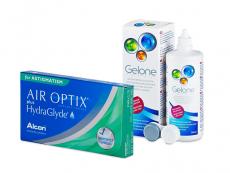 Air Optix plus HydraGlyde for Astigmatism (6 шт.) + Розчин Gelone 360 ml