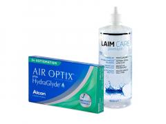 Air Optix plus HydraGlyde for Astigmatism (6 шт.) + Розчин Laim-Care 400 ml