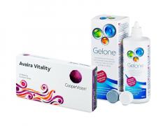 Avaira Vitality (6 шт.) + Розчин Gelone 360 ml