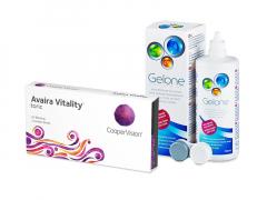 Avaira Vitality Toric (3 шт.) + Розчин Gelone 360 ml
