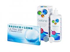 Bausch + Lomb ULTRA (6 шт.) + Розчин Gelone 360 ml