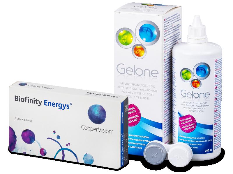 Biofinity Energys (3 шт.) + Розчин Gelone 360 ml