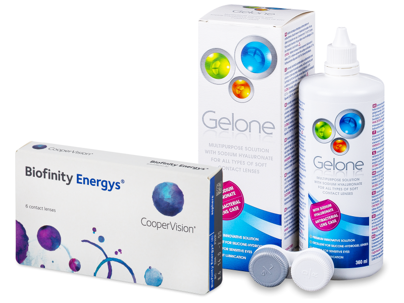 Biofinity Energys (6 шт.) + Розчин Gelone 360 ml