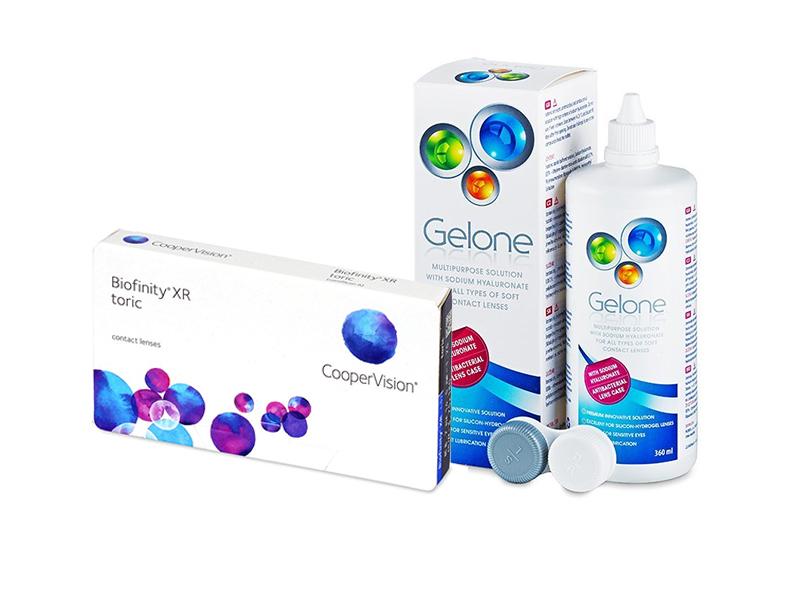 Biofinity XR Toric (3 шт.) + Розчин Gelone 360 ml