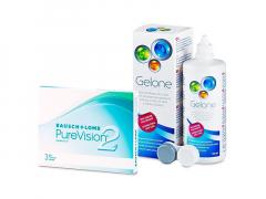 PureVision 2 (3 шт.) + Розчин Gelone 360 ml