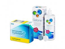 PureVision 2 for Presbyopia (6 шт.) + Розчин Gelone 360 ml