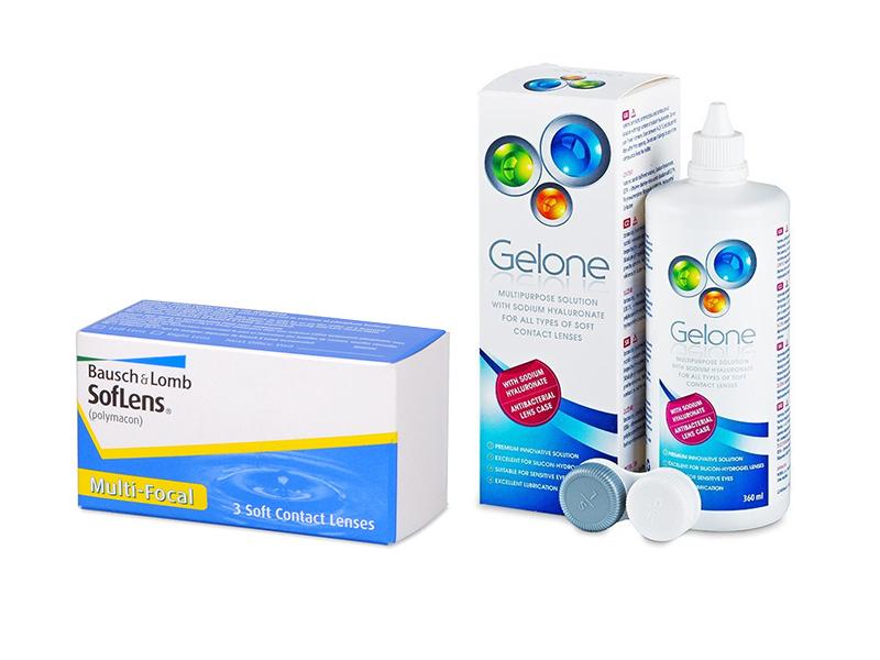 SofLens Multi-Focal (3 шт.) + Розчин Gelone 360 ml