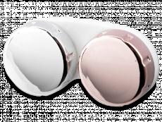 Контейнер для контактних лінз з дзеркальним покриттям - рожевий / сріблястий