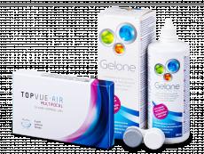 TopVue Air Multifocal (3 лінзи) + розчин Gelone 360 мл.