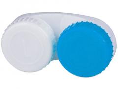 Контейнер для лінз біло-синій L+R