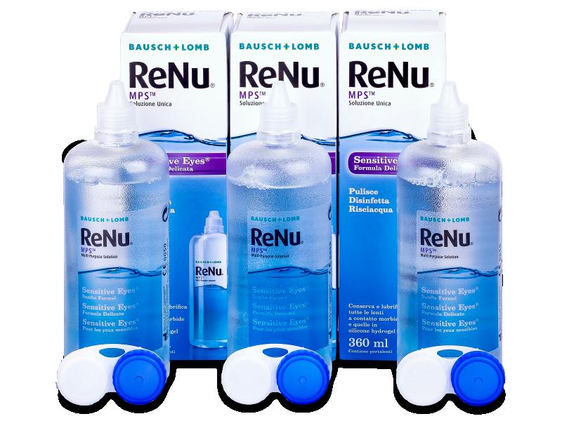 Розчин ReNu MPS Sensitive Eyes 3 x 360 ml