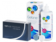 TopVue Premium (12 шт.) + Розчин Gelone 360 ml