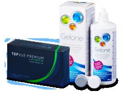TopVue Premium for Astigmatism (6лінз) +розчин Gelone 360 ml