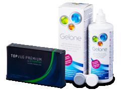 TopVue Premium for Astigmatism (3шт.) +розчин Gelone360ml