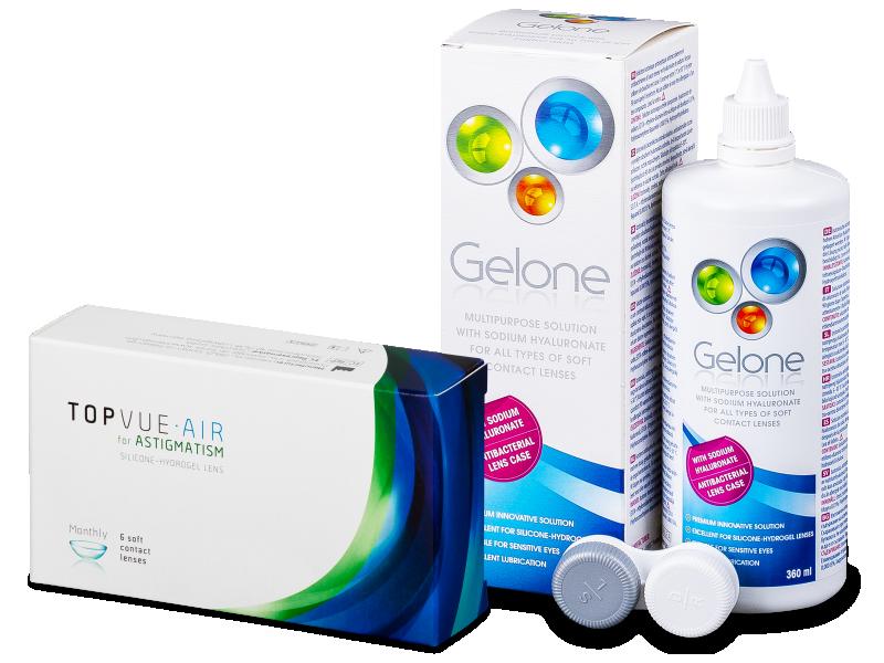 TopVue Air for Astigmatism (6шт.) + розчин Gelone 360 ml