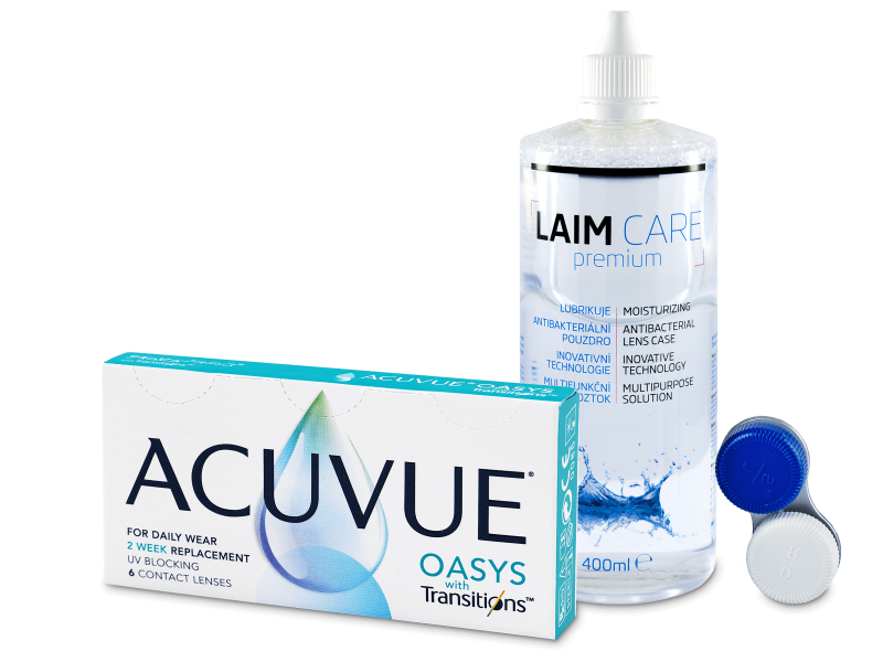 Acuvue Oasys with Transitions (6 лінз) + розчин Laim-Care  400 ml