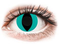 CRAZY LENS - Cat Eye Aqua - Одноденні недіоптричні (2 шт.)