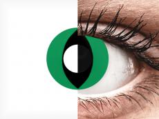 CRAZY LENS - Cat Eye Green - Одноденні недіоптричні (2 шт.)