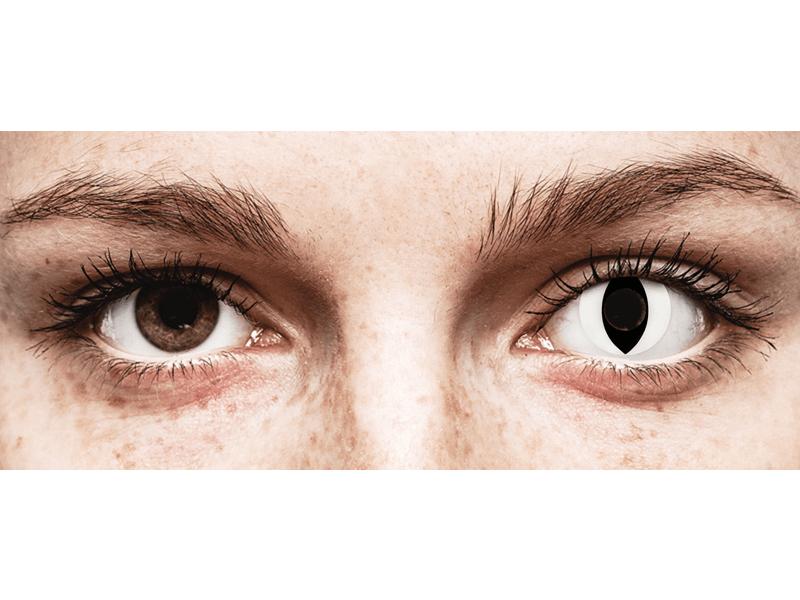 CRAZY LENS - Cat Eye White - Одноденні недіоптричні (2 шт.)