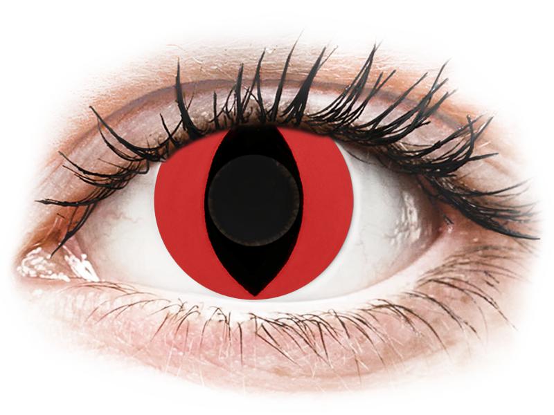 CRAZY LENS - Cat Eye Red - Одноденні недіоптричні (2 шт.)