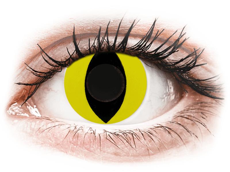 CRAZY LENS - Cat Eye Yellow - Одноденні недіоптричні (2 шт.)
