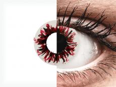 CRAZY LENS - Harlequin Black - Одноденні діоптричні (2 шт.)