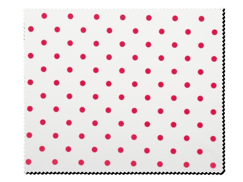 Очищаюча серветка для окулярів - червоний горошок