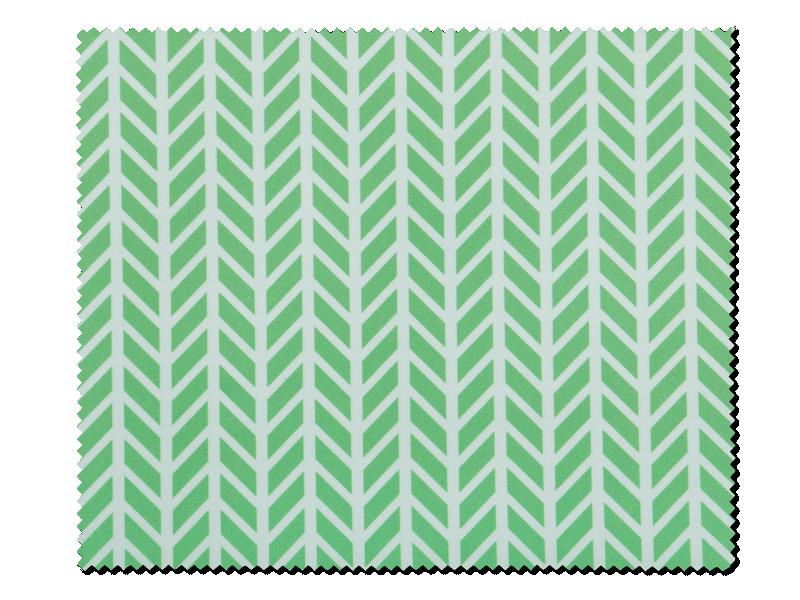 Очищаюча серветка для окулярів - зелена з білим візерунком