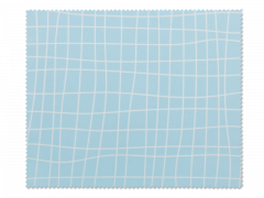 Очищаюча серветка для окулярів - блакитна в клітинку