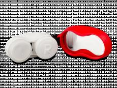 Контейнер для лінз з карбіном - червоний