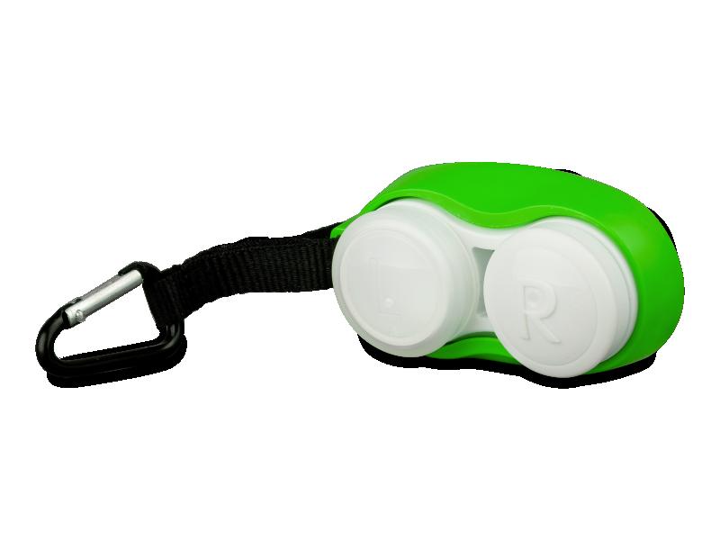 Контейнер для лінз з карбіном - зелений