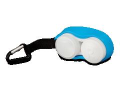 Контейнер для лінз з карбіном -блакитний