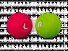 Контейнер для контактних лінз - Рожевий & зелений