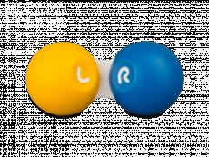 Контейнер для контактних лінз - Жовтий & блакитний