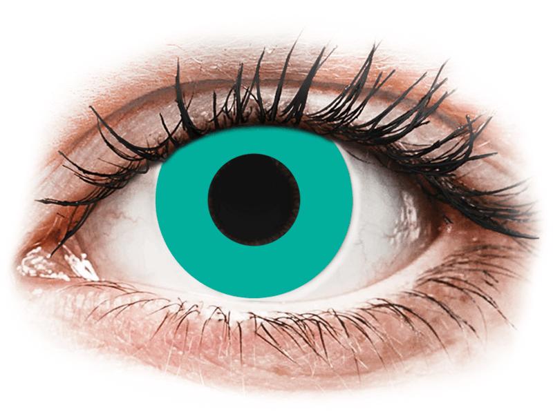 CRAZY LENS - Solid Turquoise - Одноденні недіоптричні (2 шт.)