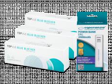 TopVue Blue Blocker (90 лінз) + powerbank Esperanza 2400mAh БЕЗКОШТОВНО